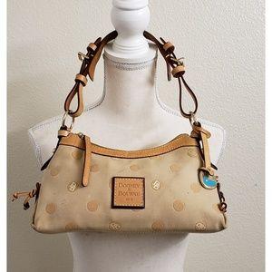 Dooney & Bourke Tan Leather/Fabric Handbag